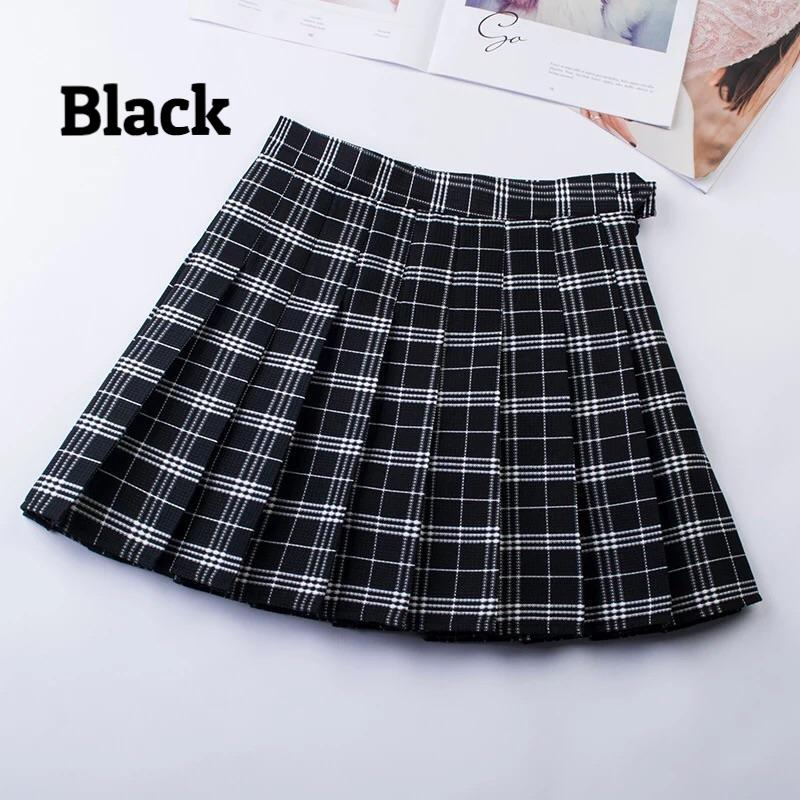Japanese School Girl mini skirt With Shorts with plus size - Peiliee Shop