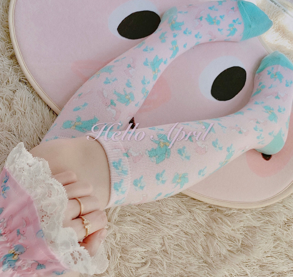 Hello April, nice to see my friends again - bunny bear cotton socks - Peiliee Shop