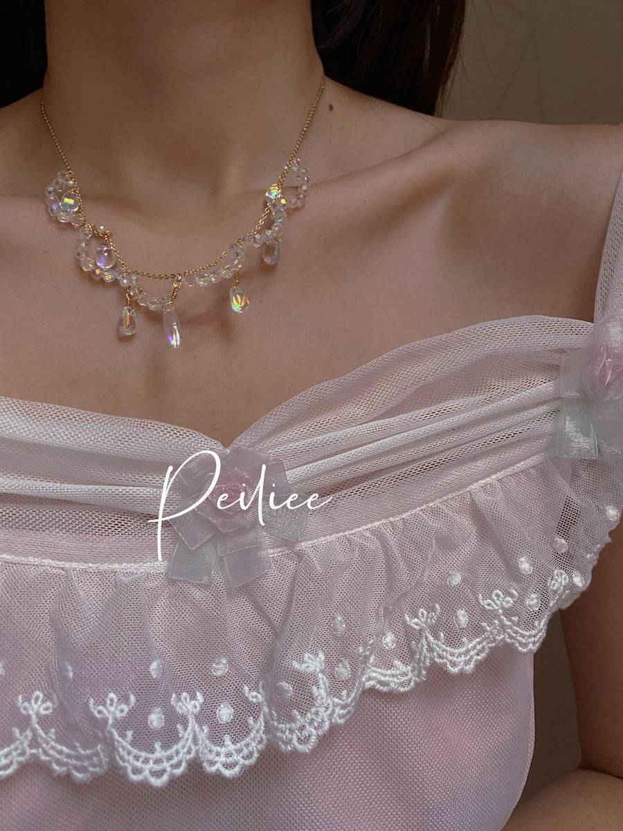 [Princess Must Have] Flower Dew From Heaven Handmade Necklace - Peiliee Shop