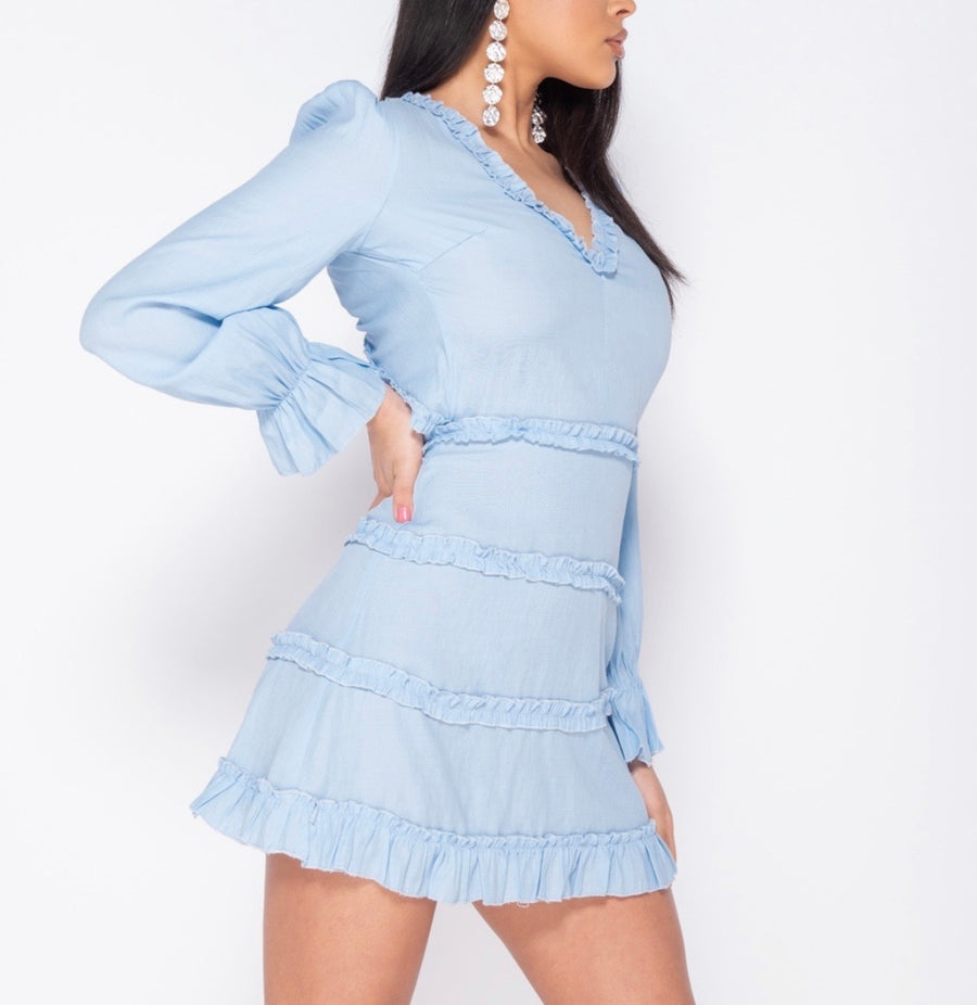 [From Sweden] Rhine Melody Mini Dress - Peiliee Shop