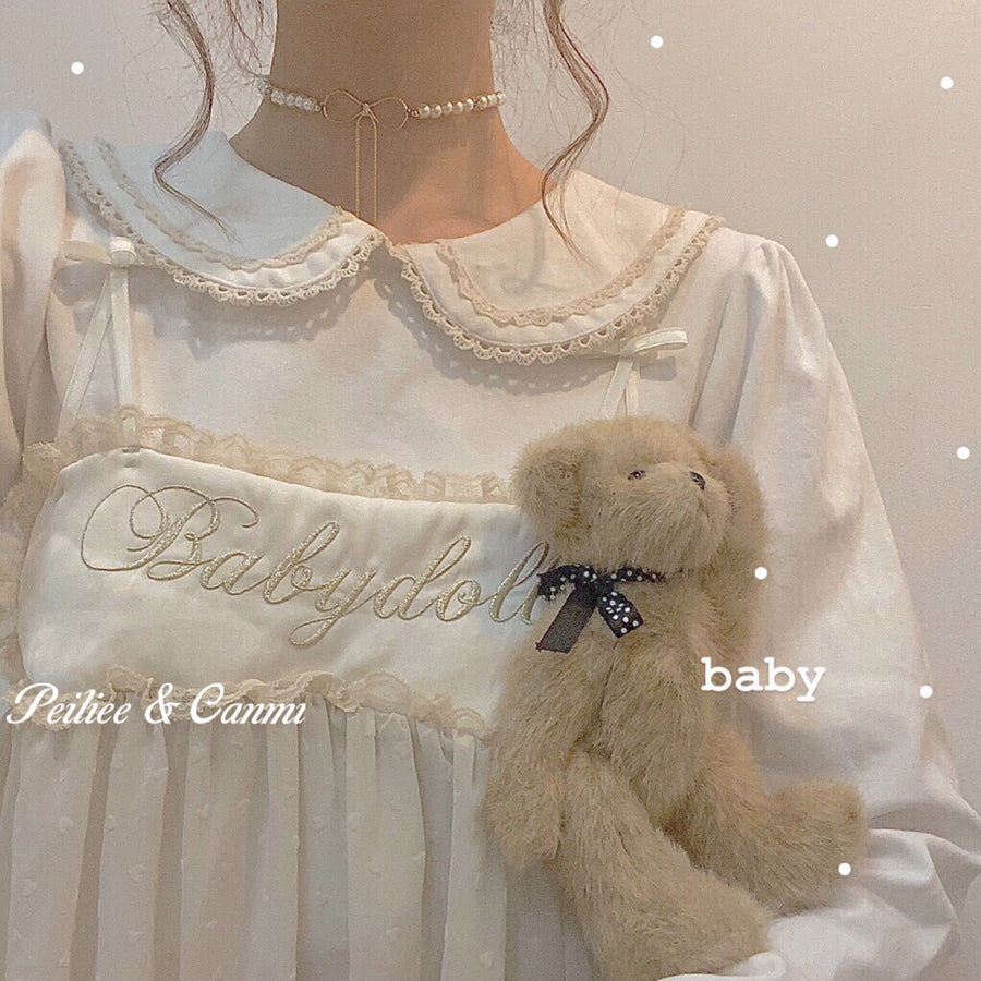 [Peiliee x Canmi] Dolly Bear Lives On My Shirt - Peiliee Shop