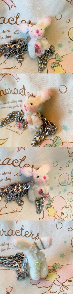 [Handmade by Yoko] Bad Lil Bunny Doll Hairpin / Necklace - Peiliee Shop
