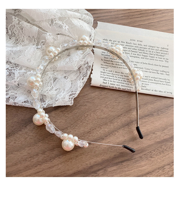 Downtown Abbey Pearl Floral Hairband - Peiliee Shop