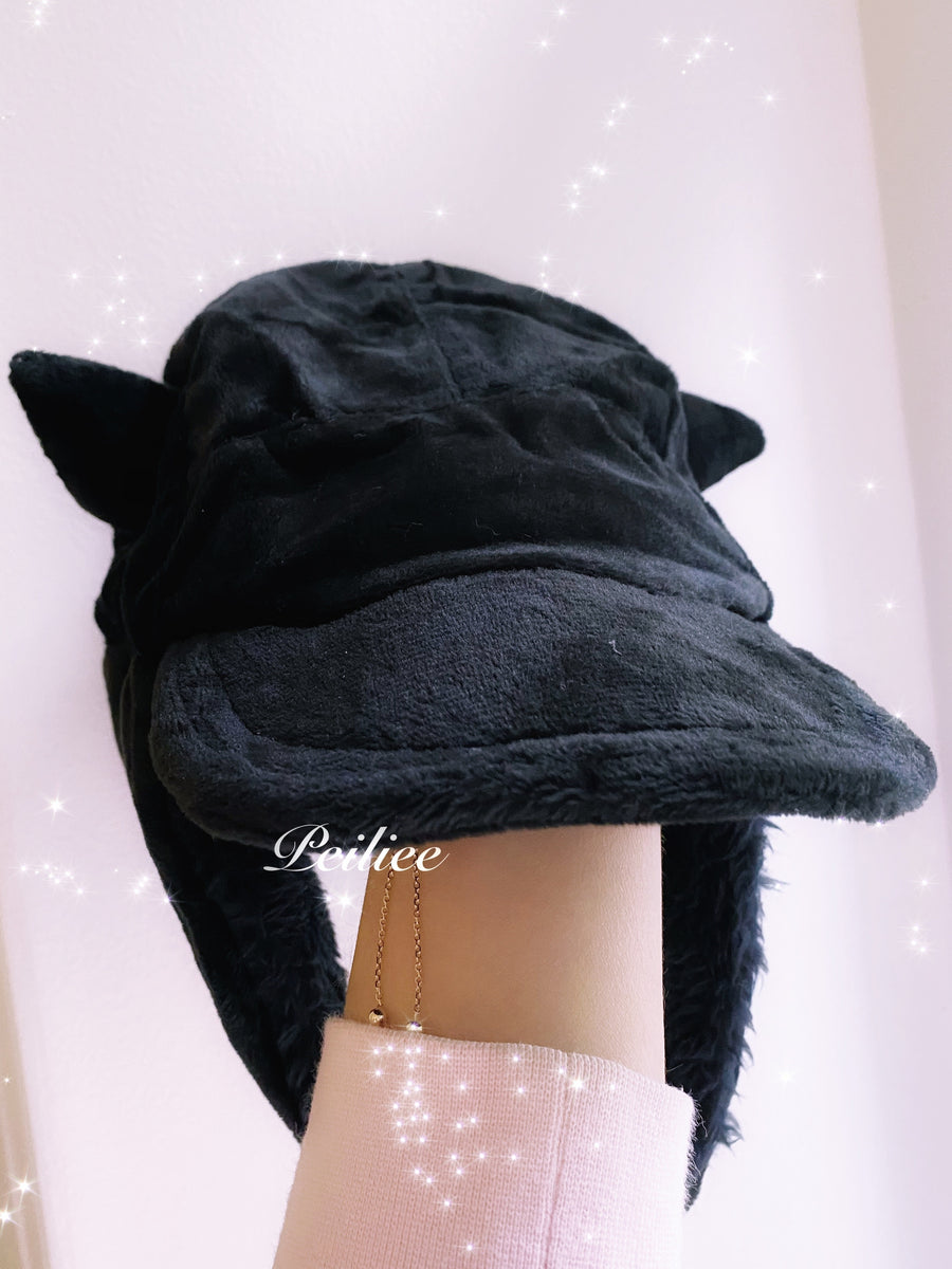 Devil Doll Baseball Cap Faux Fur