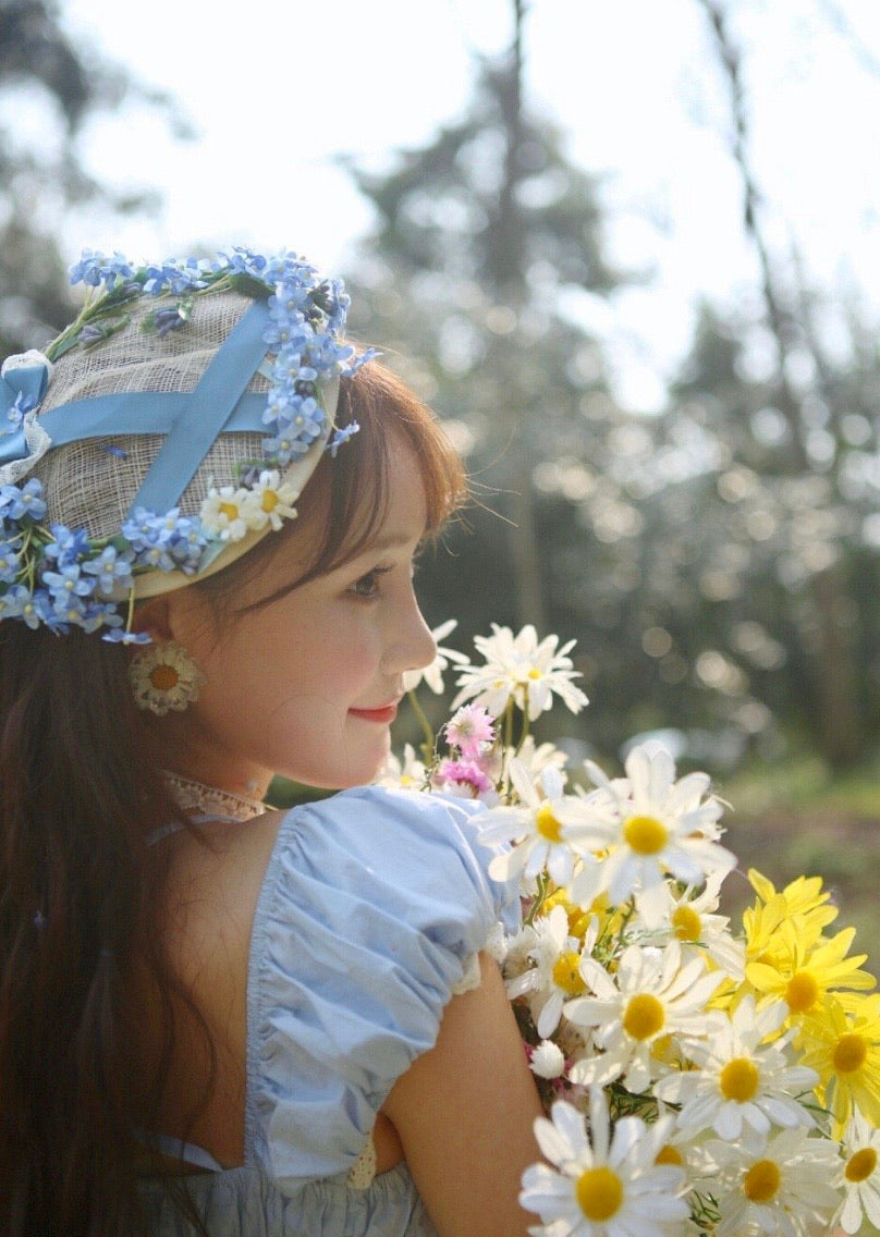 [12 Studio] Princess in floral garden handmade daisy dress - Peiliee Shop