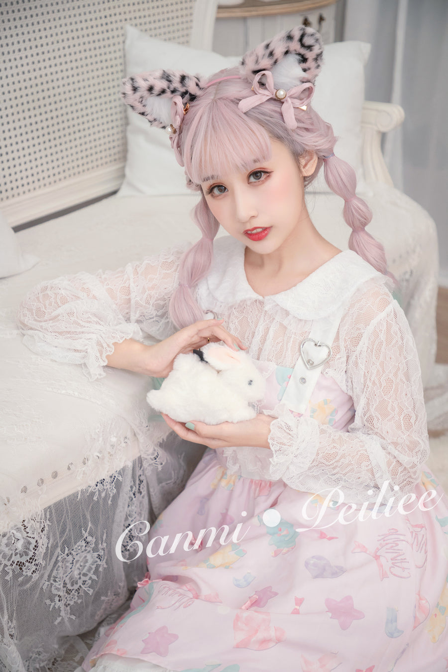 [Canmi Design] For Bear And Bunny Sweet JSK Lolita Dress - Peiliee Shop