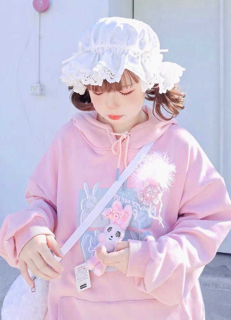 Sleepy Bun Babydoll Lolita Fashion Handmade Lace Bunny Ear Hat [Available for Customize] - Peiliee Shop