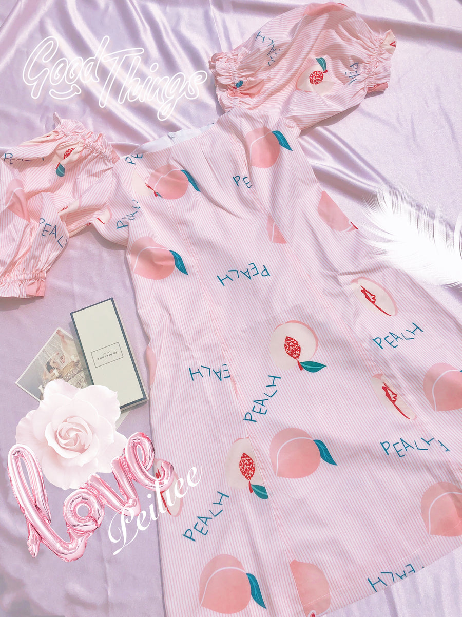 Miss Peach Dress - Peiliee Shop