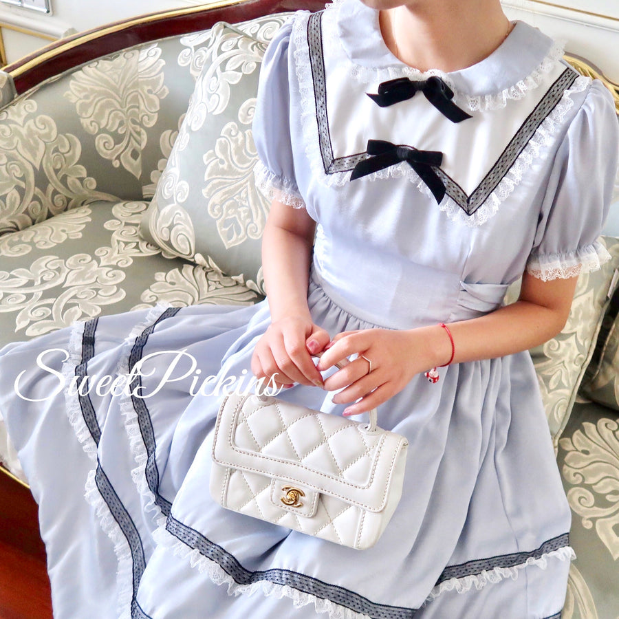 [Limited Edition J.Yan Design] To Alice vintage velvet dress - Peiliee Shop