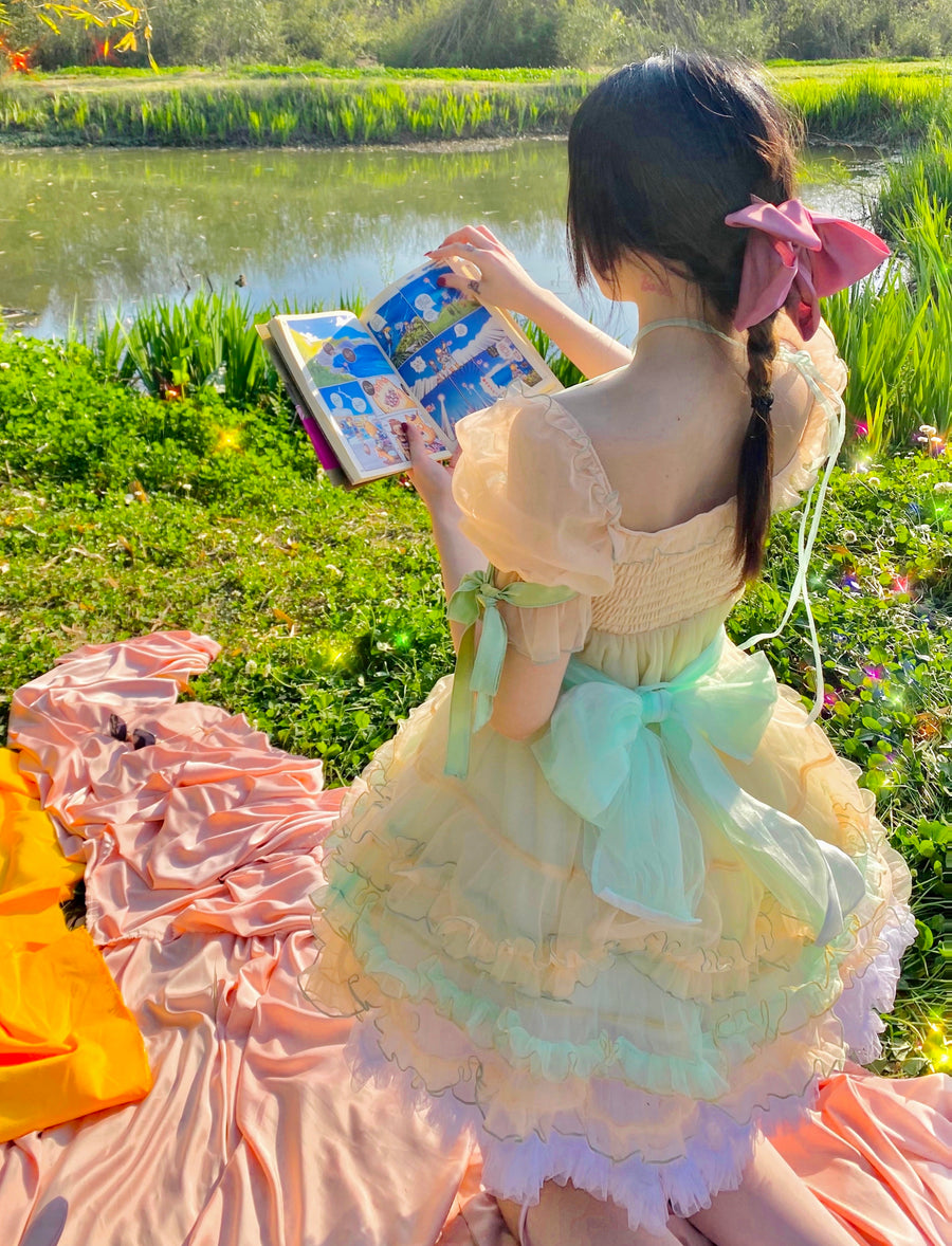 [Premium Selected Limited Edition] Rainbow Candy Fairy Dress - Peiliee Shop