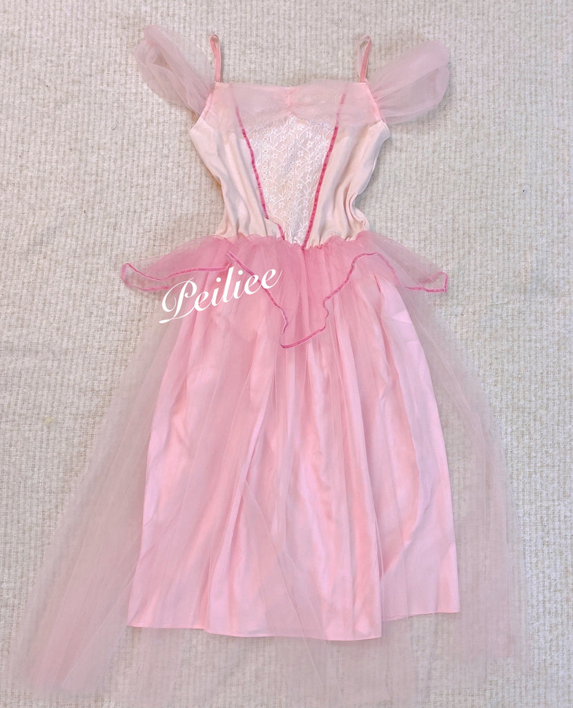 [Customized] Sleeping Beauty Princess Dress in pink - Peiliee Shop