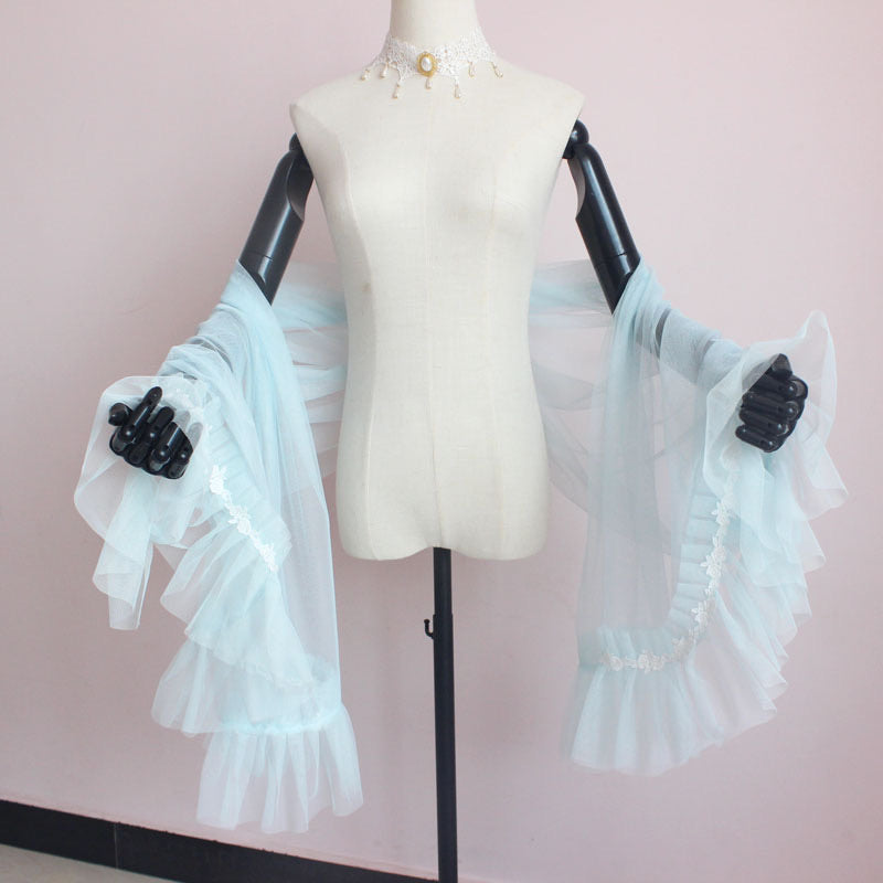[Customized] Fairy Dream Yarn Shawl Scarf Cardigan - Peiliee Shop