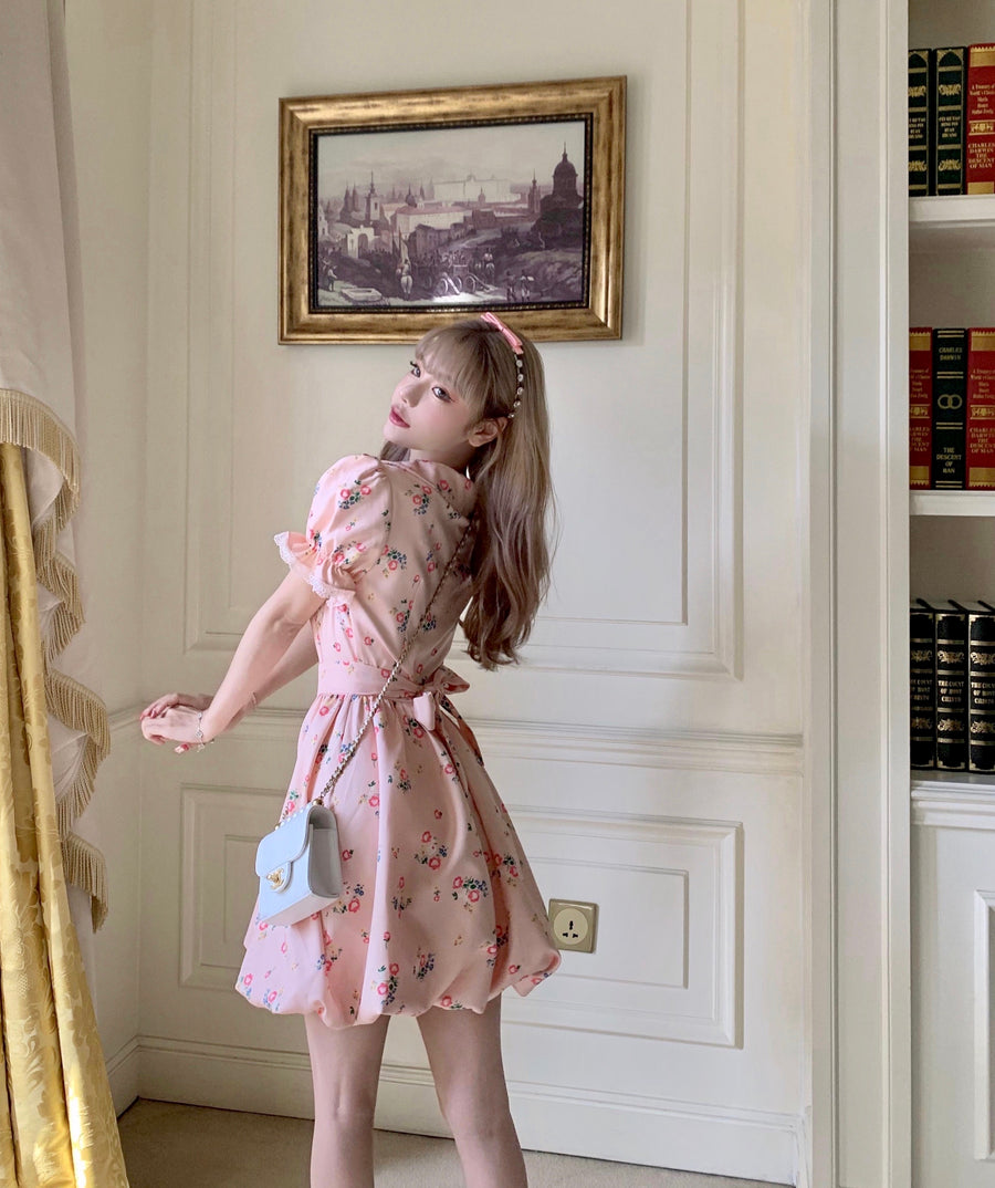 [Premium Selected] Flower House Princess Vintage Mini Dress - Peiliee Shop