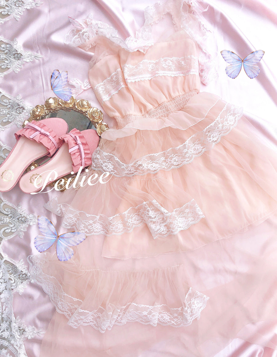 Reina Hime Lace Dress - Peiliee Shop