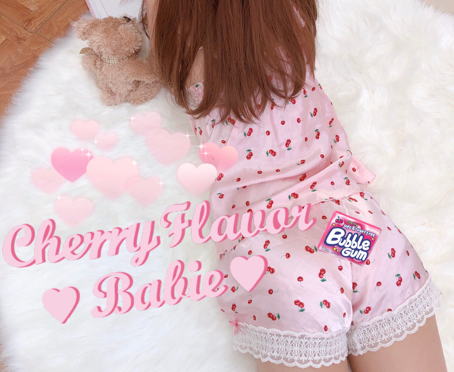Cherry Night Sleepwear set - Peiliee Shop