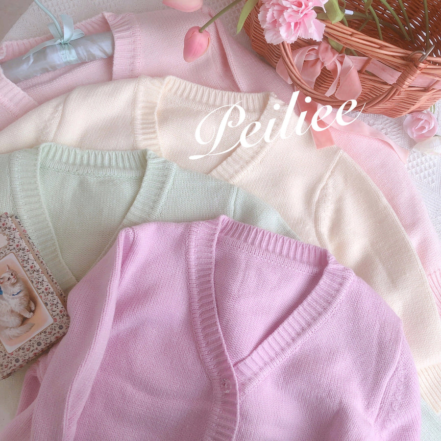 [By Peilieeshop] The Dancing Swan Soft Cardigan