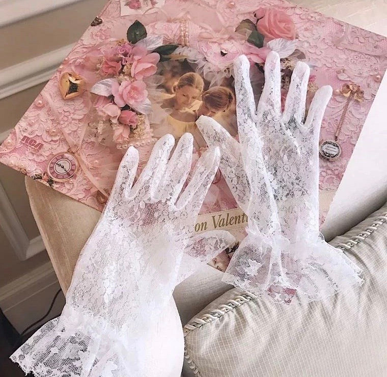 [Peiliee Exclusive] Vintage Lover Classic Lace Thin gloves - Peiliee Shop