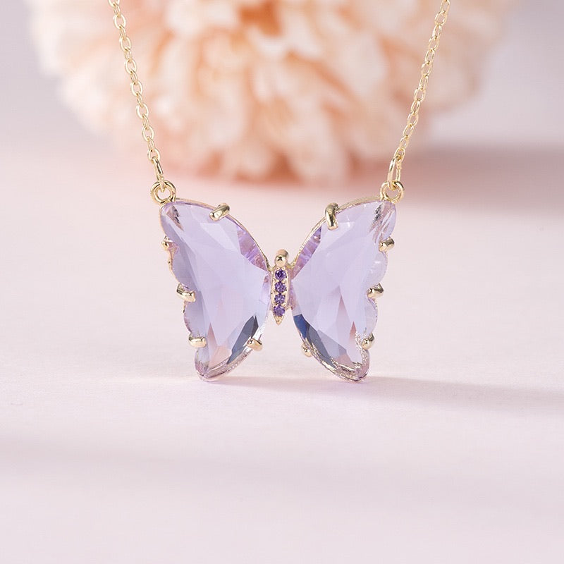 [Standard Version] Crystal Dream Butterfly necklace - Peiliee Shop