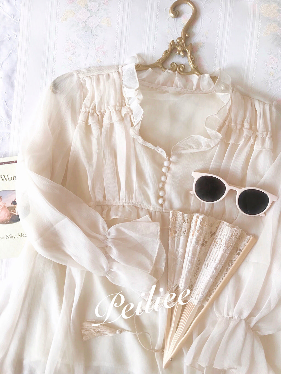 Garden Of Angels Autumn Oversized Shirt - Peiliee Shop