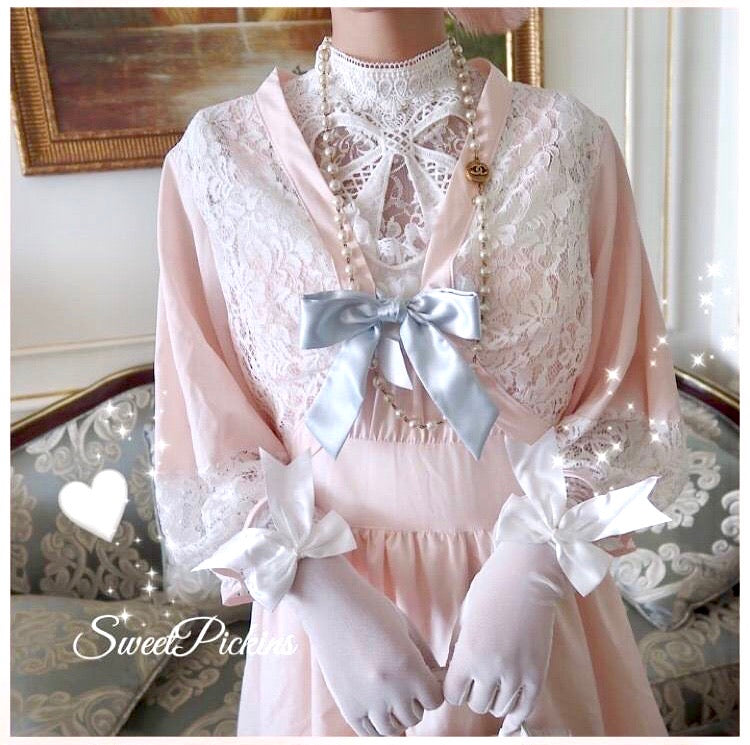 [Premium Selected] Royal Sakura Garden Lace Cardigan - Peiliee Shop