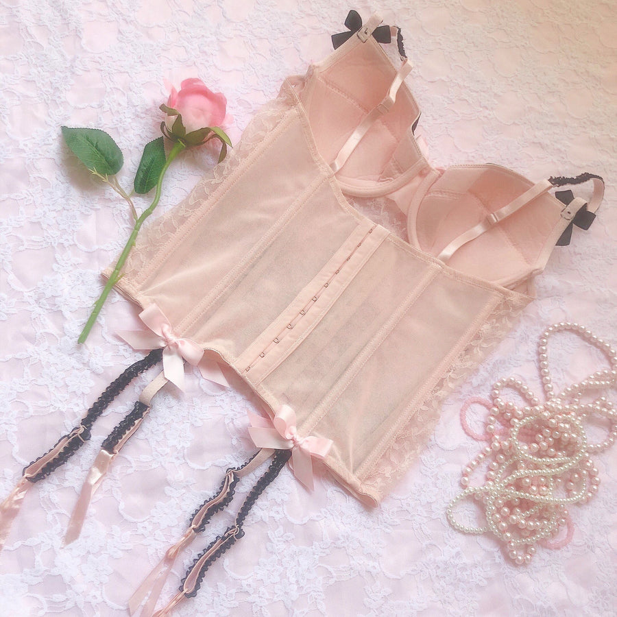 [Only 2 Made] Rose Encens Lace Handmade Corset - Peiliee Shop