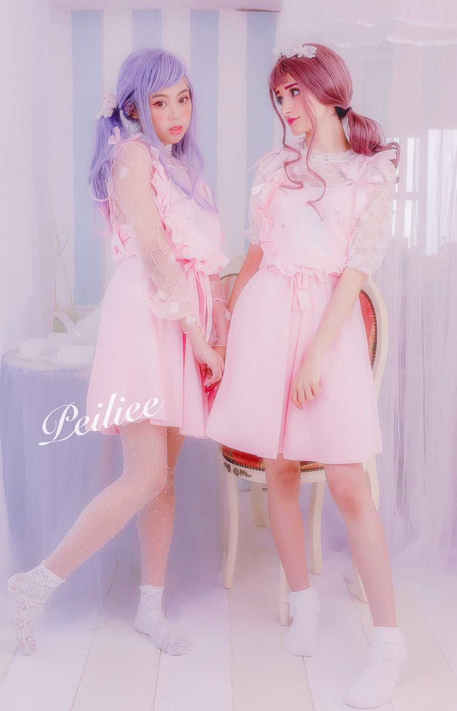 Peiliee 2 Years Anniversary The Dreamy Lolita Dress Set - Peiliee Shop