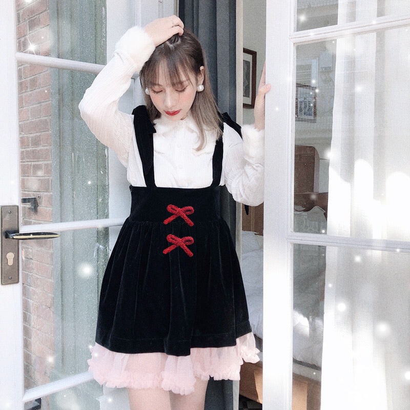 The girl with angel aroma velvet dress - Peiliee Shop