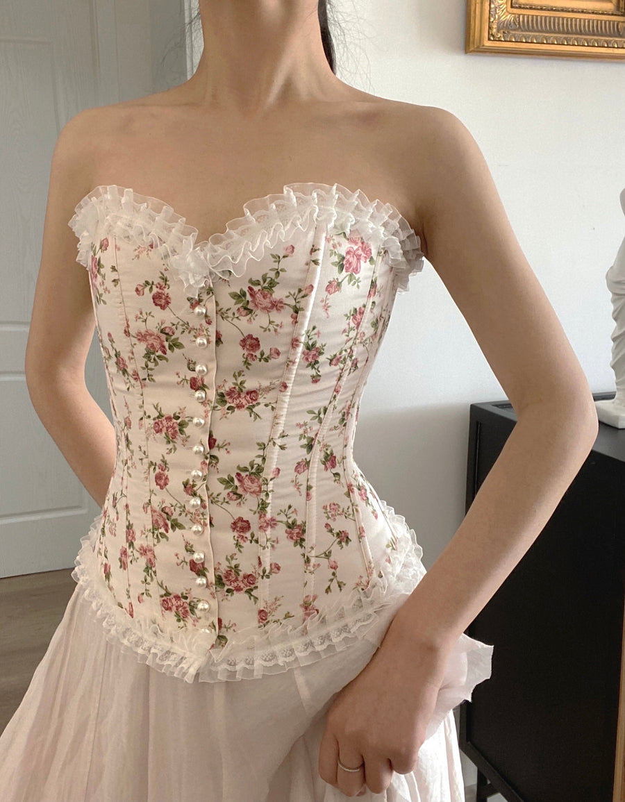 [Premium Selected] Rose Yard Corset - Peiliee Shop