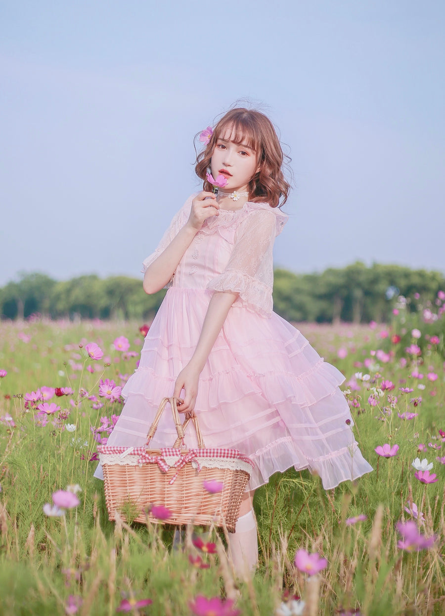 Sakura waltz romantic dress - Peiliee Shop