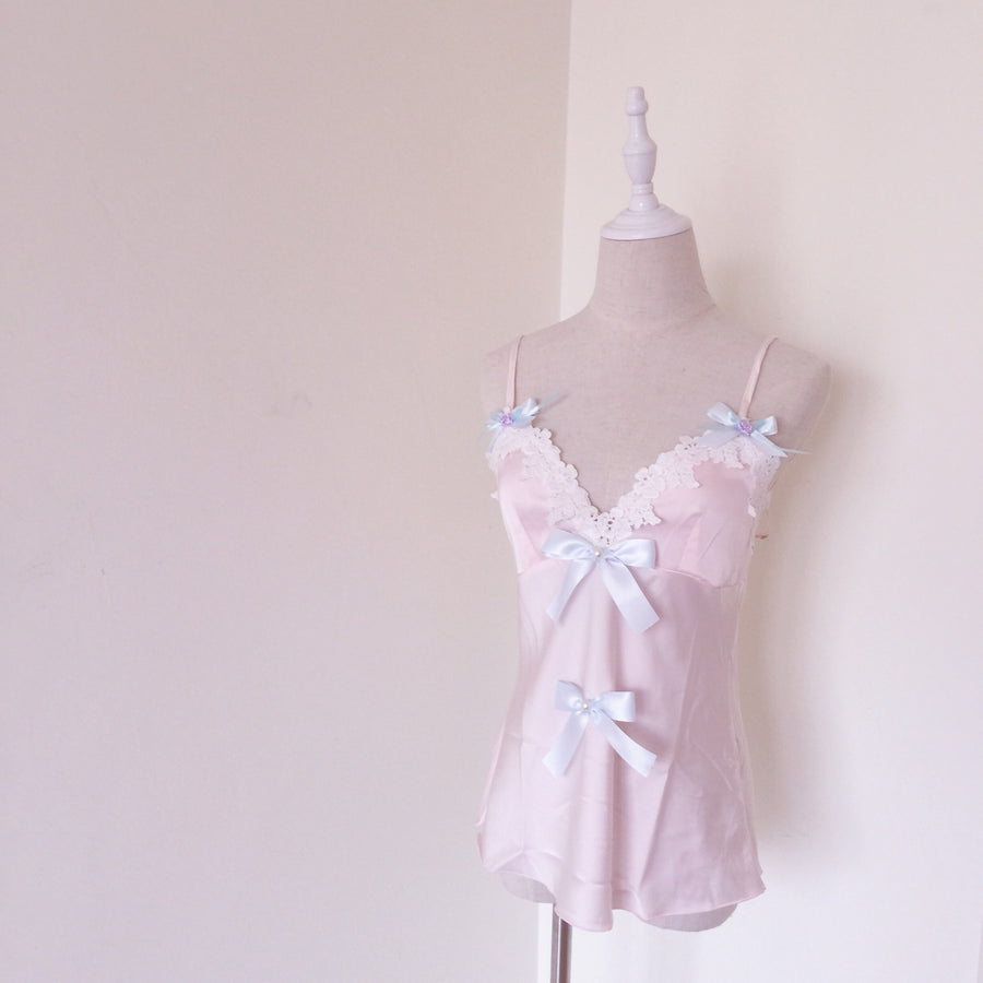 [Original Peiliee x SSS Lingerie]  The Dreamy Ballerina Lace Ribbon Set - Peiliee Shop