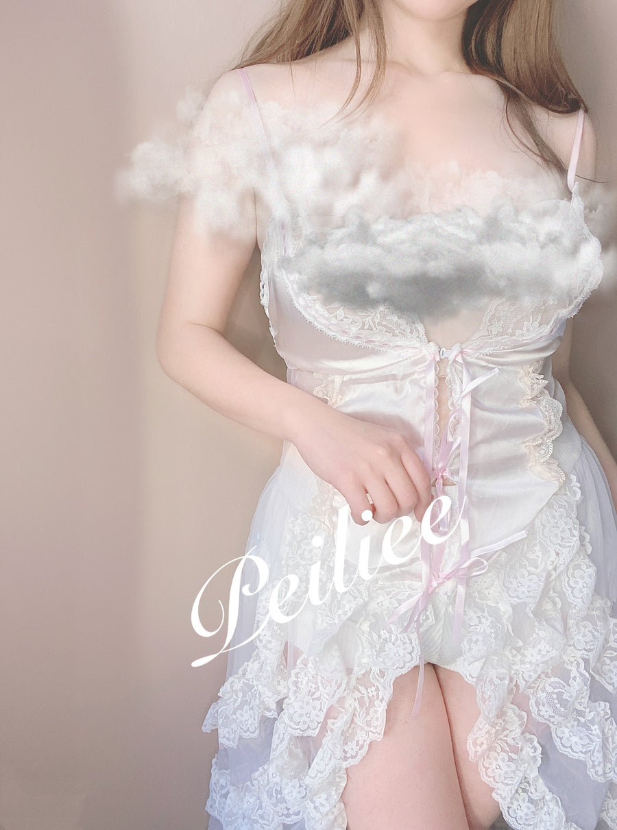 [Premium Selected] Dream Fairy handmade vintage lingeire body dress - Peiliee Shop