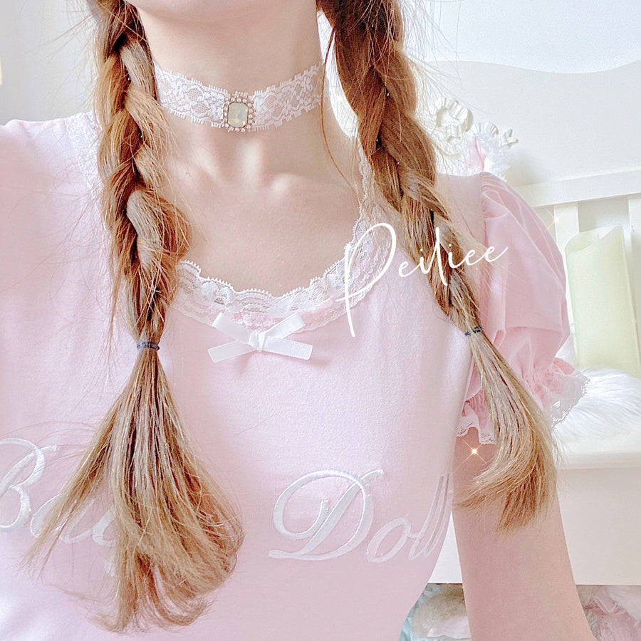 [Peiliee 3 Years Anniversary] Min Sötnos Sweet Babydoll Larme Cotton Top