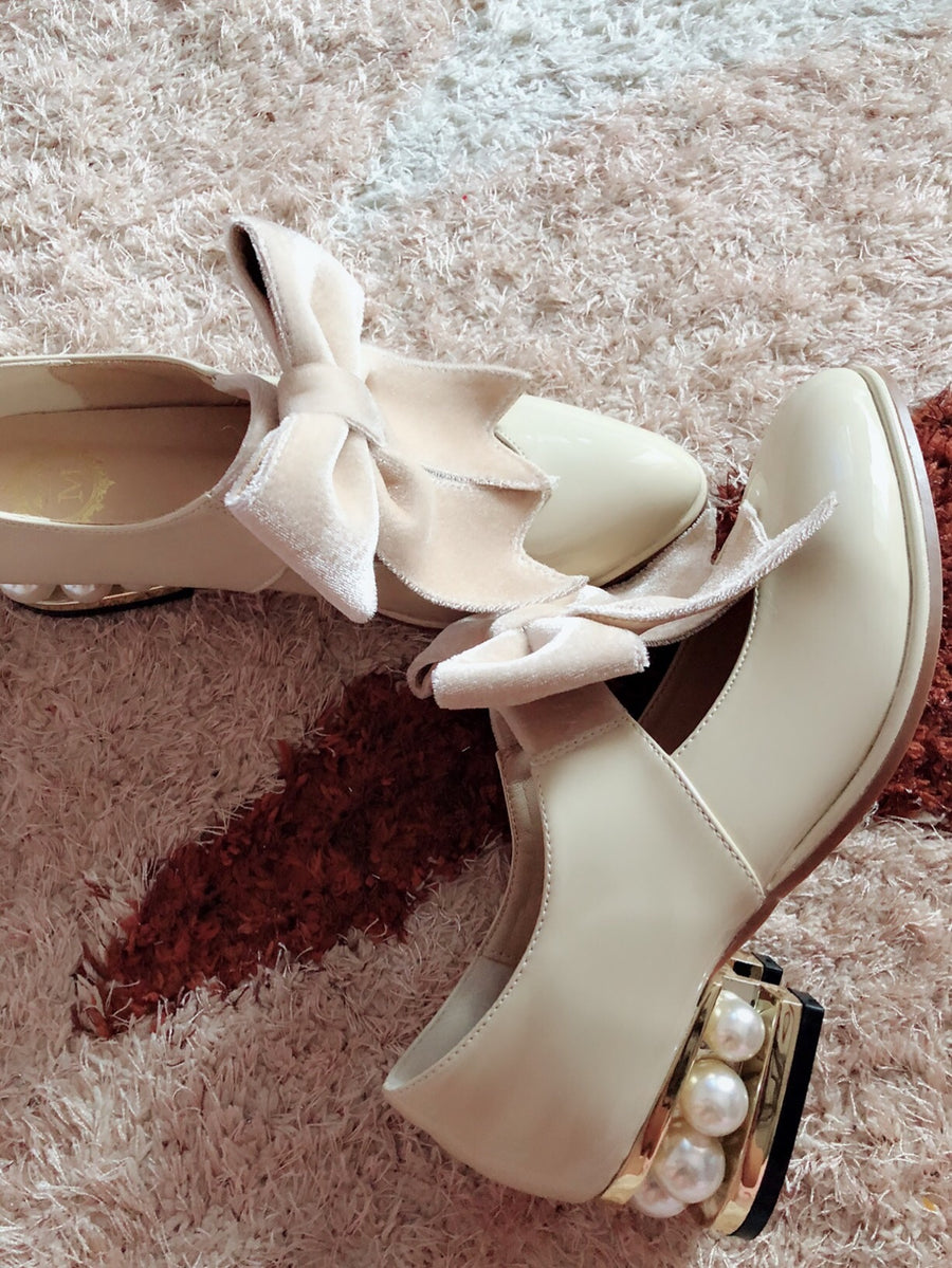 [Last chance] You are my favorite day dream - Dream girl pearly shoes with mid-heel - Peiliee Shop