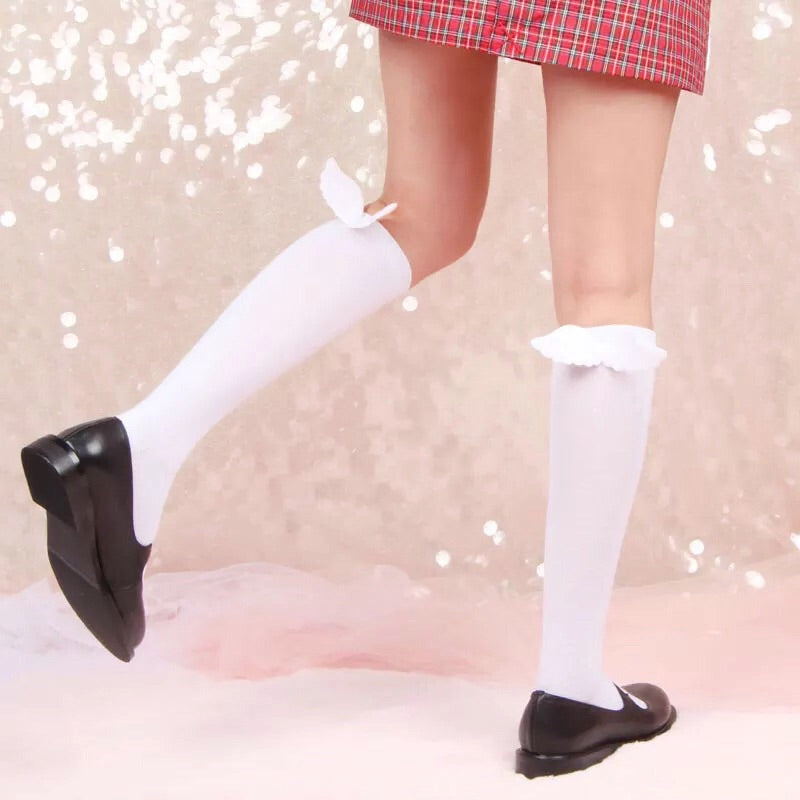 [Basic] Feathers are reminders that angels are always near Angel Wing Socks - Peiliee Shop