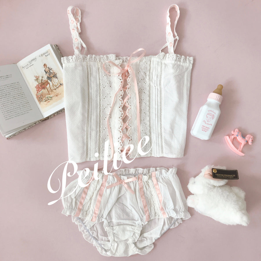 [Product Photos Only] The Snow Angel Lingerie Set - Peiliee Shop