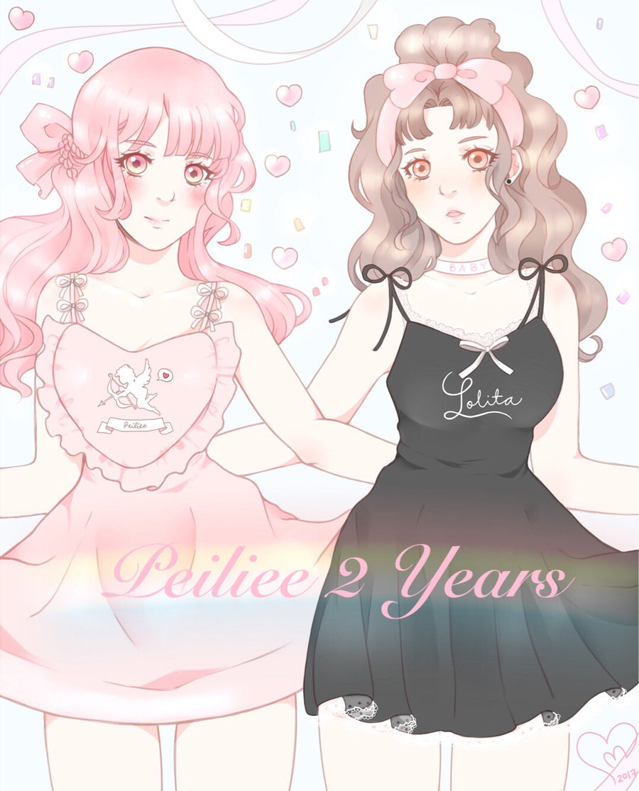 Peiliee 2 Years Anniversary The Dreamy Velvet Dress And Cotton Dress Set - Peiliee Shop