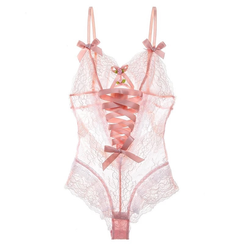 Peach 19 Angelic Babydoll French Body Lingerie - Peiliee Shop