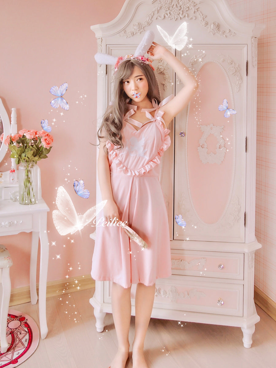 Peiliee 2 Years Anniversary The Dreamy Lolita Velvet Dress And Cotton Dress Set - Peiliee Shop
