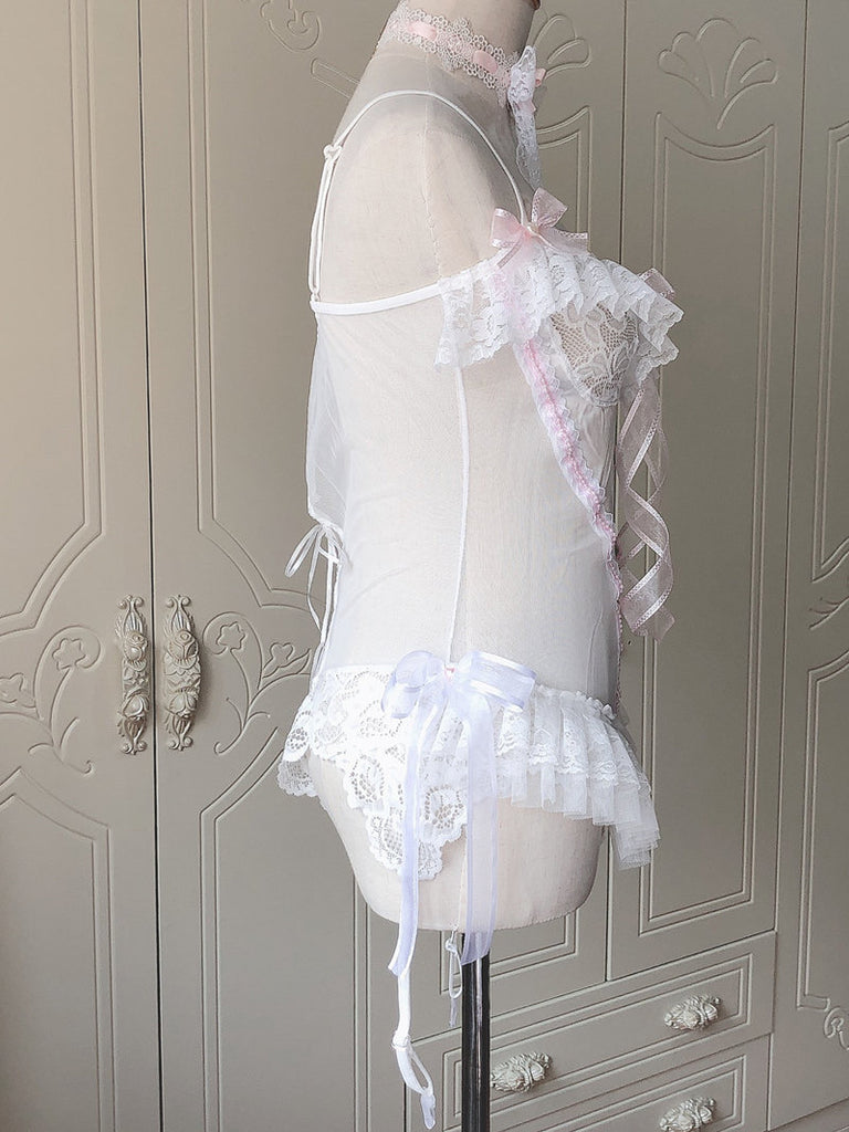 [Handmade Lingeries] Dream in swan feather body lingerie - Peiliee Shop