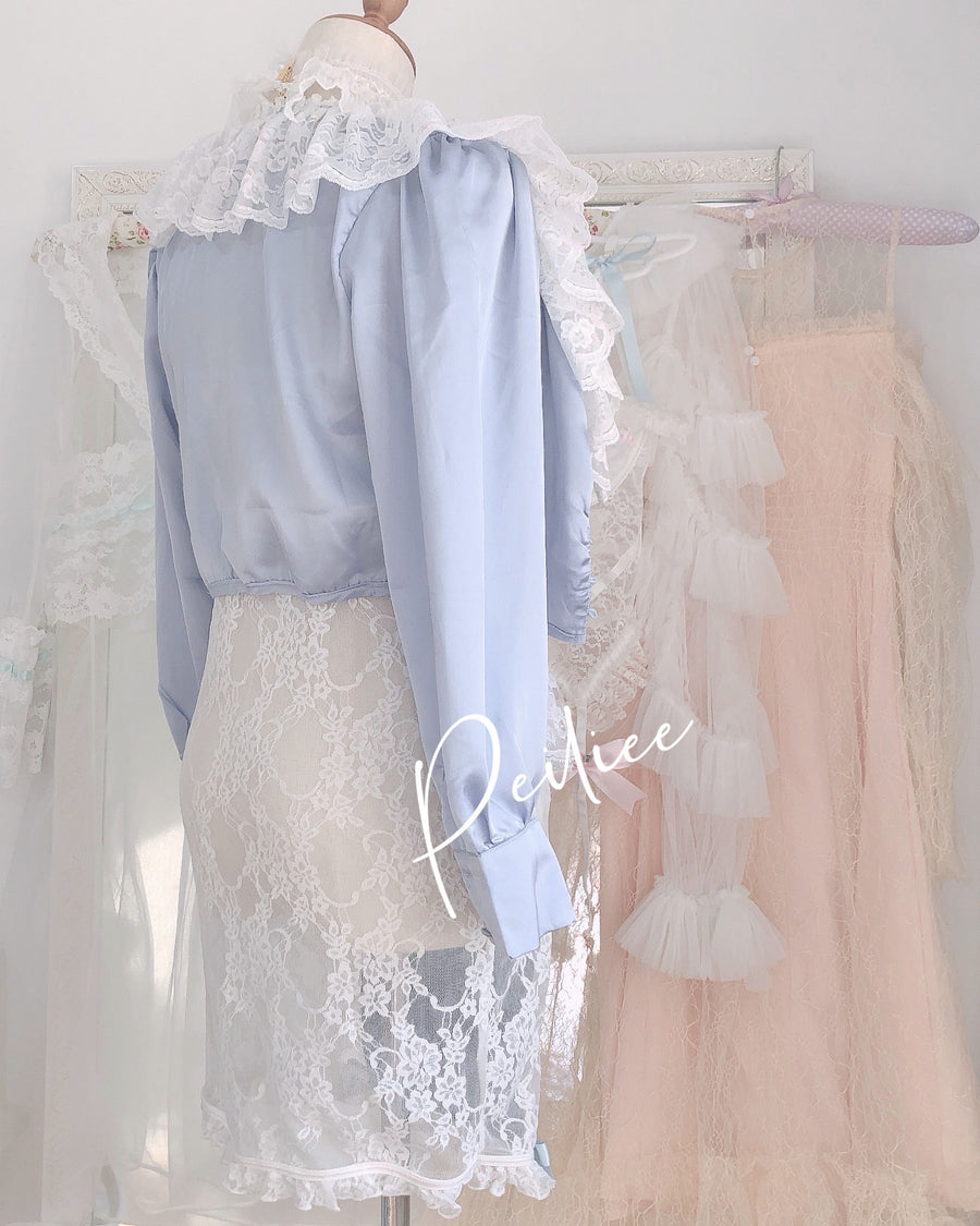 [Handmade Lingerie] Ice Angel Lace Dress - Peiliee Shop