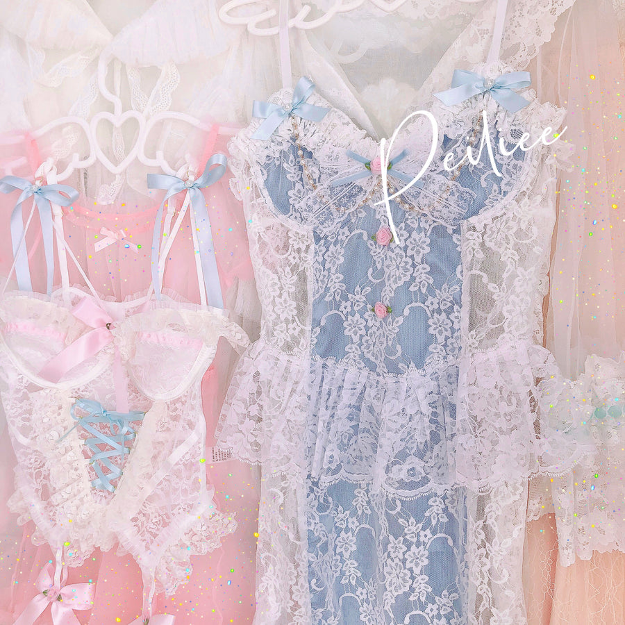 [Handmade Lingerie] Ice Angel Lace Dress