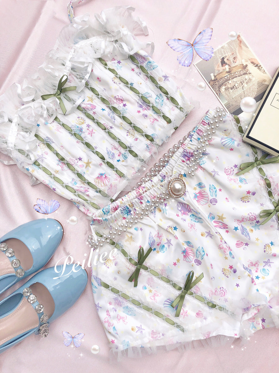 Sweet Little Mermaid Dreamy Sleepwear Set - Peiliee Shop