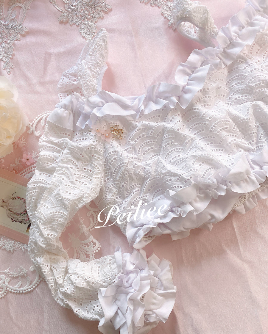 [From Sweden] Babydoll Cotton Thick Top - Peiliee Shop