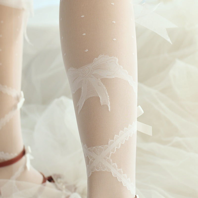 Ribbon Dream handmade lace socks - Peiliee Shop