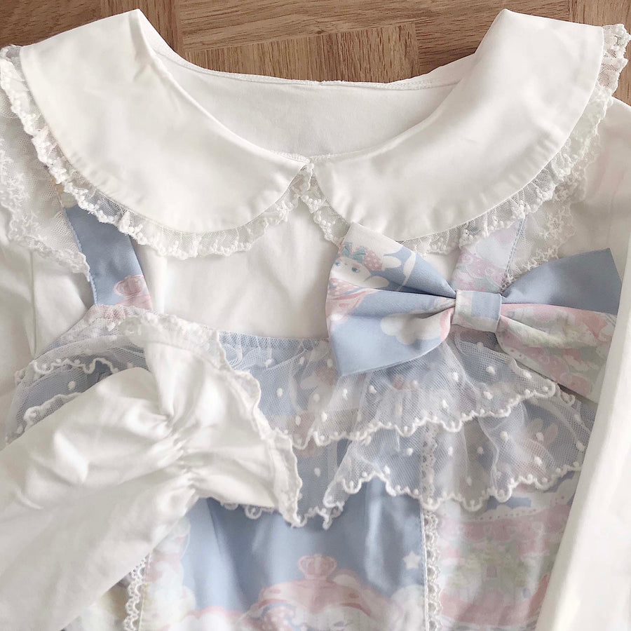 Sakura Cheese Babydoll Collar Classic Shirt - Peiliee Shop