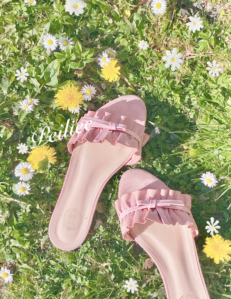 [Last Pairs] Lady Mistery Ribbon Sandals - Peiliee Shop