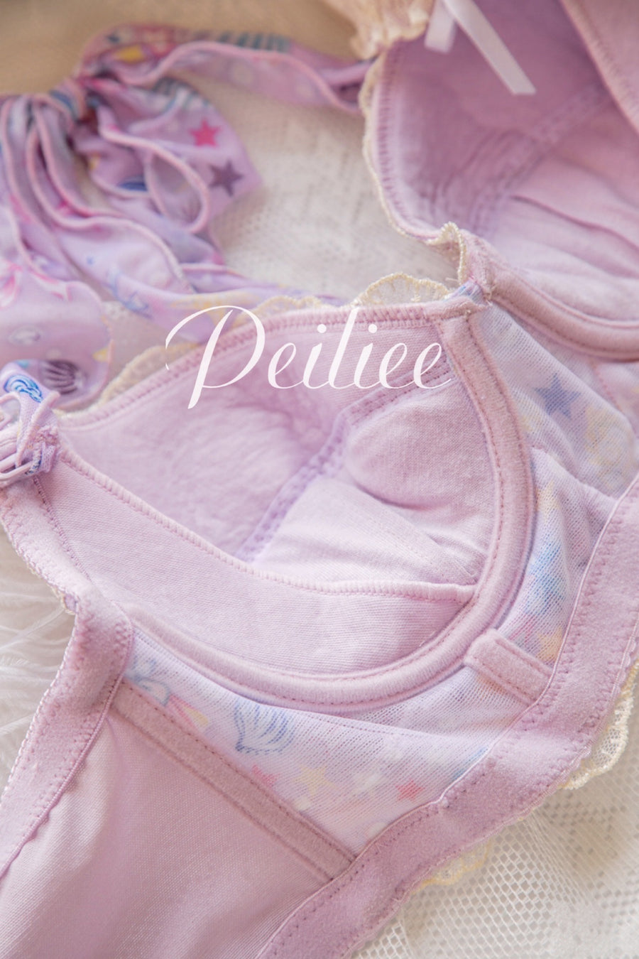 [Product Photo] Mermaid Story Soft Bra set - Peiliee Shop