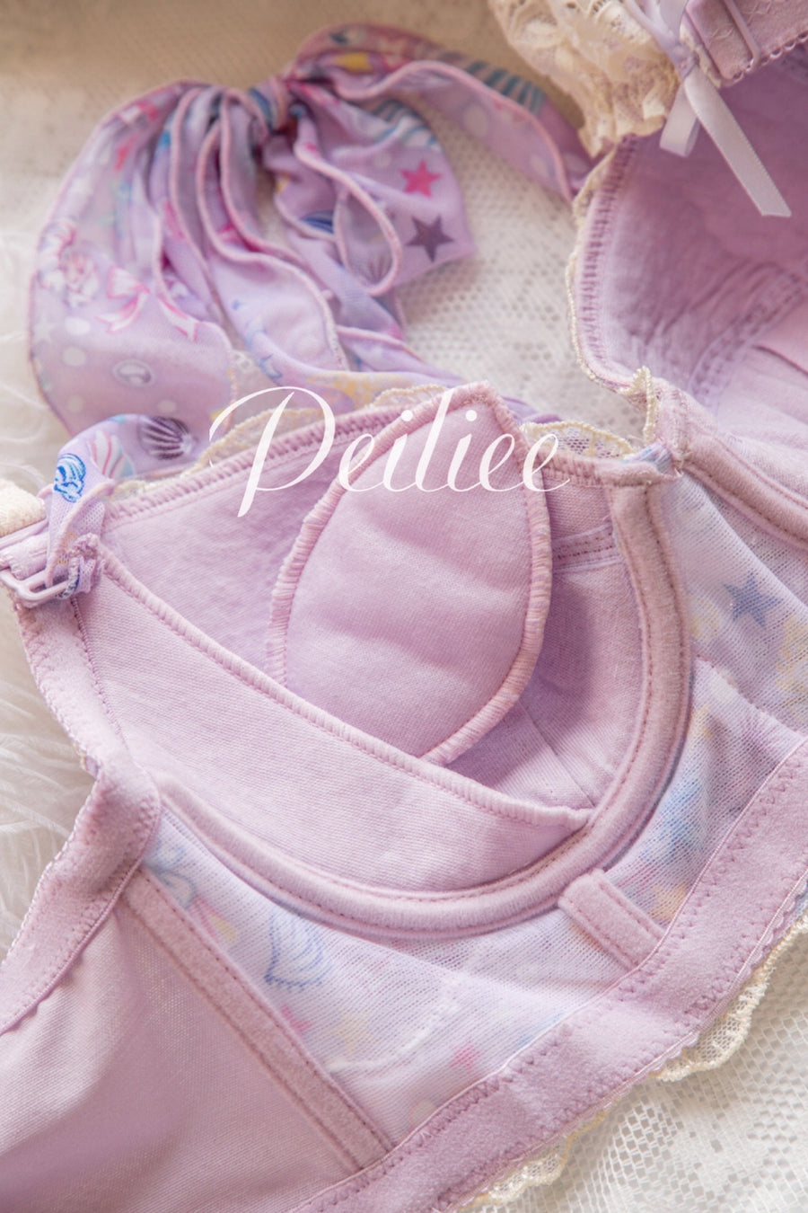 (Curve size included) Mermaid Story Soft Bra Set [Premium Selected Japanese Brand] - Peiliee Shop