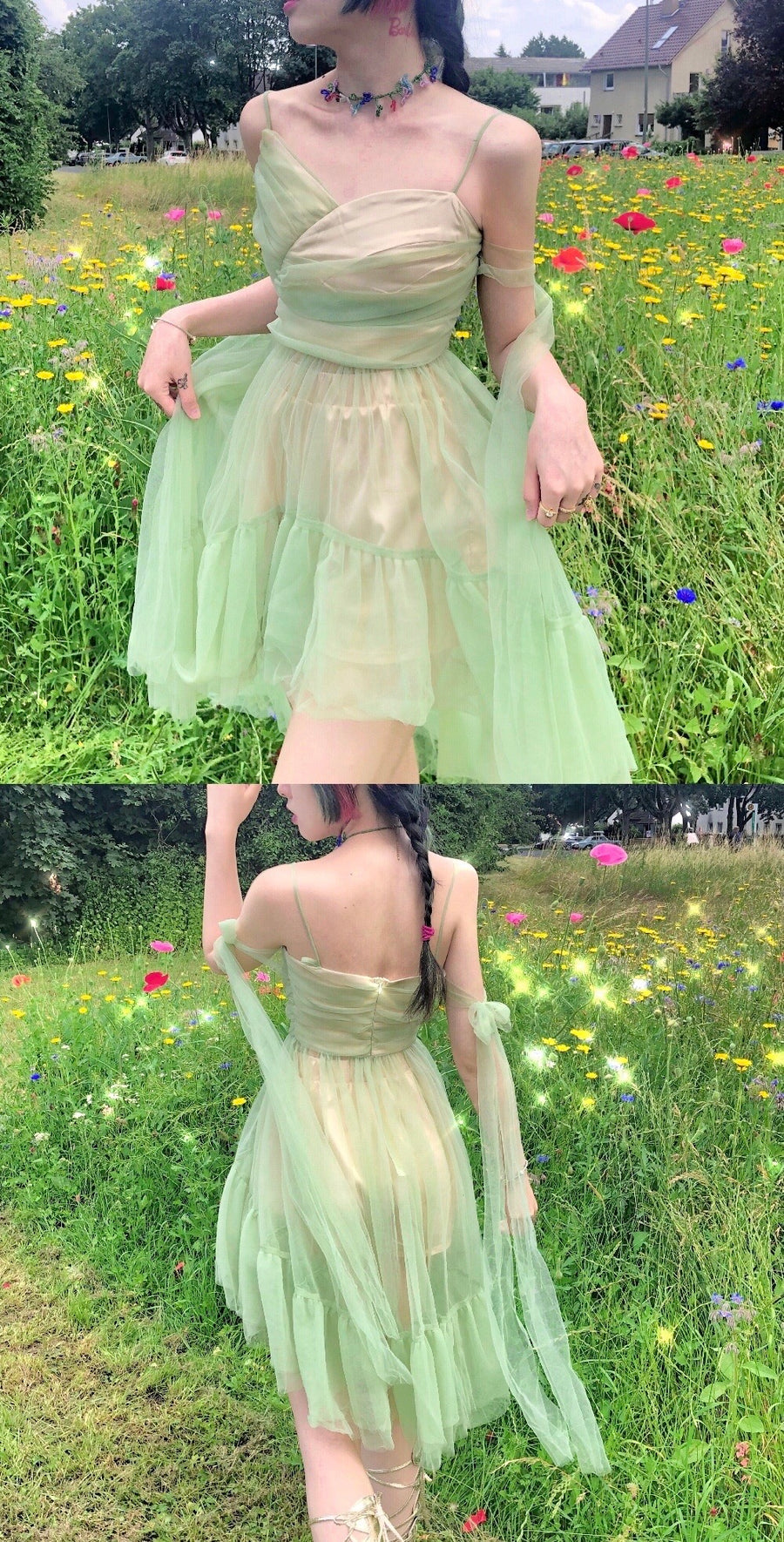[Premium Selected] Spring Fireflies Tinker Bell Dream Dress - Peiliee Shop