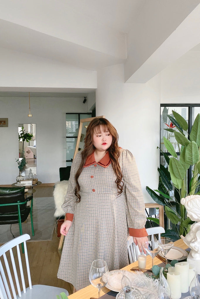 [Curve Beauty] Live the London Way Autumn Dress - Peiliee Shop